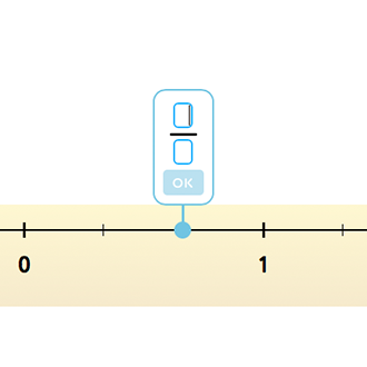 Найди дробь на числовой прямой
