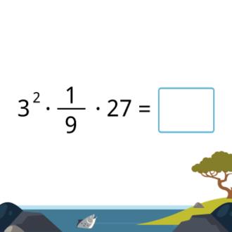 Произведение степеней чисел